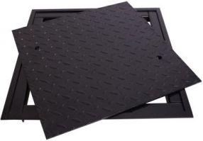 Homberg Schachtabdeckung 70 x 90 cm schwarz