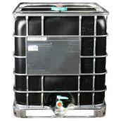IBC Container Schwarz mit Kunststoffpalette