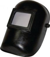 Schweißerkopfschutzhaube mit DIN-9-Glas und Vorsatzglas