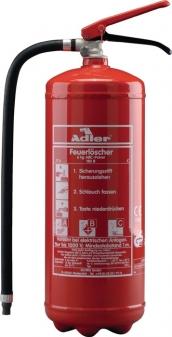 Adler Feuerlöscher PDE6 6kg Pulver mit Wandhalter