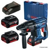 Bosch Akku Bohrhammer GBH 18V-20 + 2x 5,0 Ah Akkus + Ladegerät im Koffer