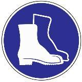 Folie Fußschutz benutzen