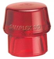 Einsatz für Simplex-Schonhammer Ø60mm Rot